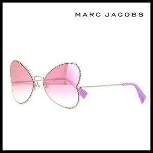 MARC JACOBS PINK BUTTERFLY FRAME SUNGLASSES